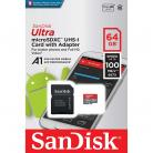 SanDisk 64GB microSDXC Card with Adapter